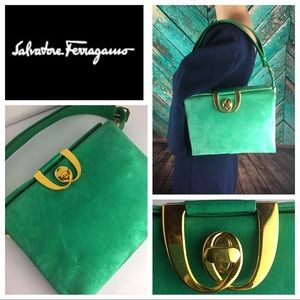 Vibrant Green Salvatore Ferragamo Vintage Bag
